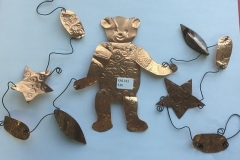 Copper Bear and Star Garland