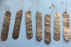 Copper Icicle Christmas Ornaments