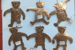 Copper Moveable Bear Christmas Ornaments