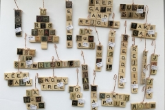 Funky Scrabble Christmas Ornaments