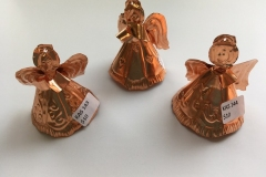 Copper Mini Angel Ornaments